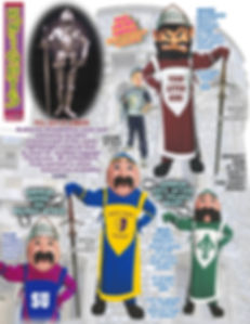 Facemakers Knights Mascot Costumes
