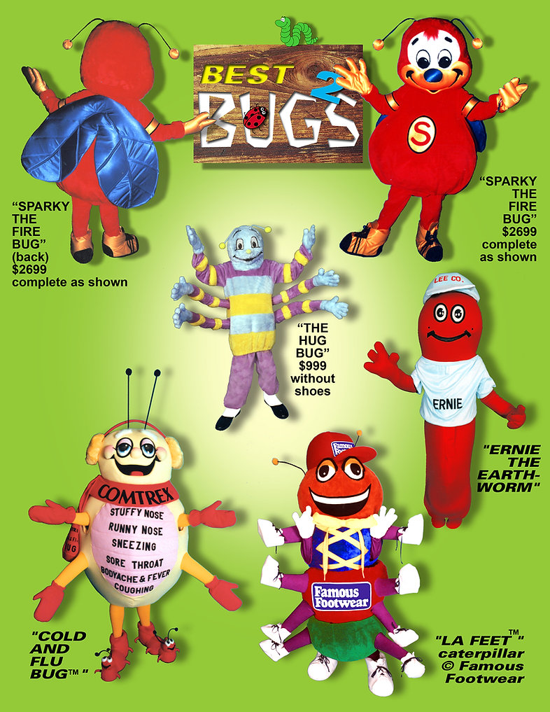 Facemakers Worm Mascot Costumes