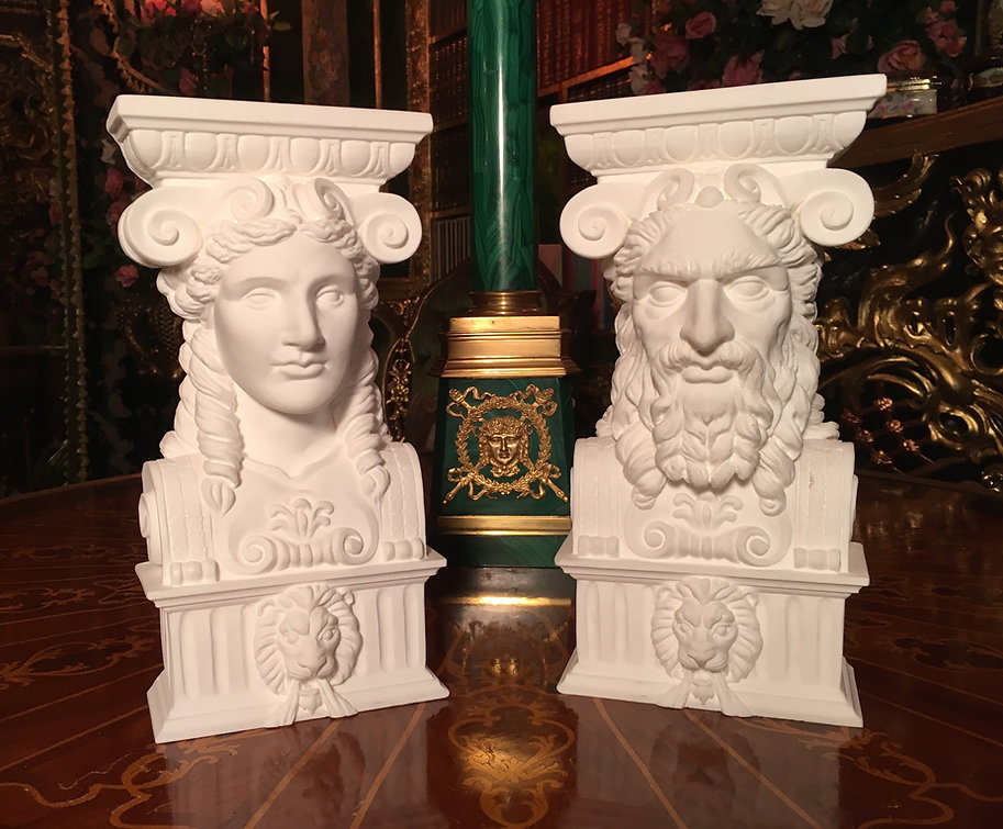 Titanic Dining Room Caryatids are brought back from the past in handcrafted replicas.