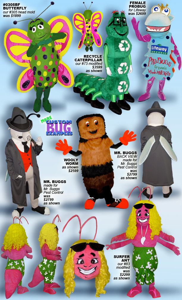 Facemakers Butterfly Mascot Costumes
