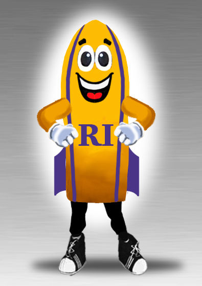 Rocket missile mascot costume for high school