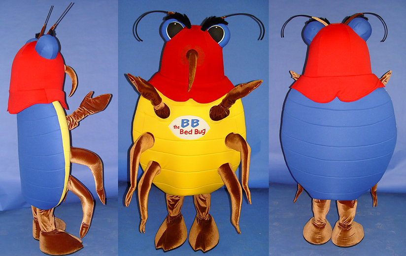 Facemakers Bed Bug Mascot Costumes
