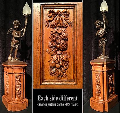 Titanic collectors Cherub Lamp Pedestal museum quality replica