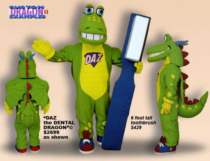 Facemakers Dentistry Dragon Mascot Costumes