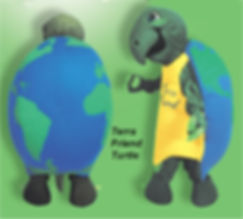 Facemakers Terra Friend Turtle Mascot Costume