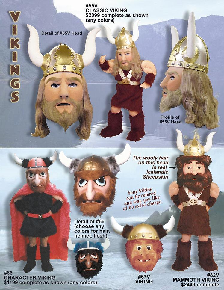 Facemakers Viking Mascot Costumes