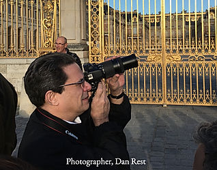 Dan Rest, respected Chicago photographer, at the Palace of Versailles.