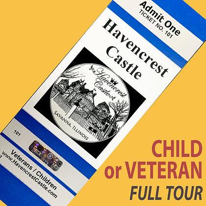 Ticket: Vet/Child OCT 2020