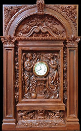 RMS Titanic clock with complete architectural surround. Museum-quality replica for your collection!