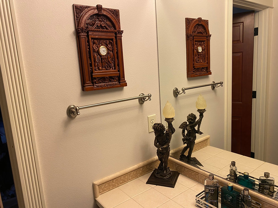 Titanic collector Gavin Grier's clock and bronze cherub replicas by Alan St George