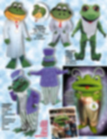 Facemakers doctor frog mascot costumes