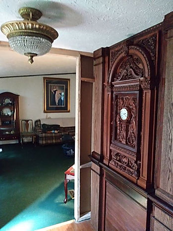 Steve Hurst, Titanic collector's home with clock by Alan St George