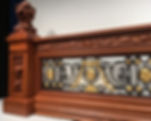 Enjoy these intricately detailed Titanic Newel Post and balustrade replicas in your own home.