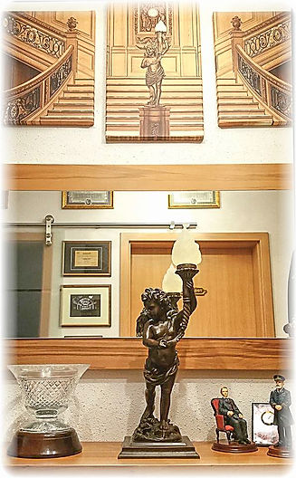 RMS Titanic Bronze Cherub replica in the collection of Heiko Hesse, GERMANY