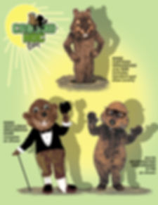 Facemakers Groundhog Mascot Costumes