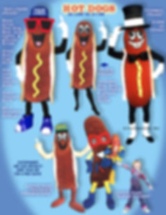 Facemakers Hot Dog Mascot Costumes