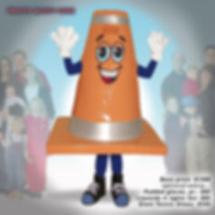 Facemakers Safety Cone Mascot Costumes