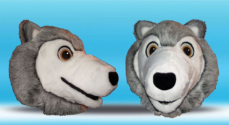 Facemakers Wolf Mascot Costumes