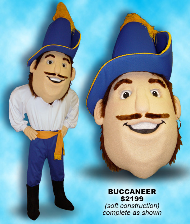Facemakers Buccaneer Mascot Costumes