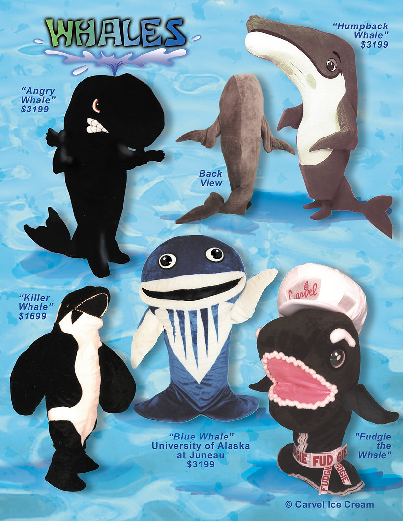 Facemakers Whale Mascot Costumes