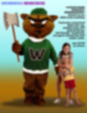 Facemakers Woodchuck Mascot Costumes
