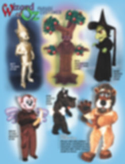 Facemakers Wizard of Oz Mascot Costumes