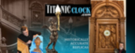 Titanic Grand Staircase Clock replica by sculptor Alan St. George