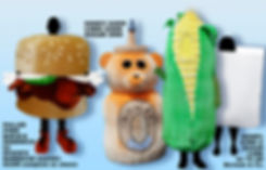 Facemakers Food Mascot Costumes