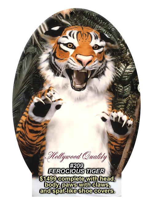 #209 FEROCIOUS TIGER mascot costume