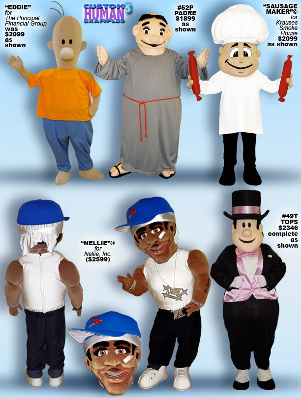 Facemakers People Mascot Costumes