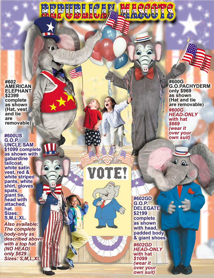 Facemakers Republican Mascot Costumes