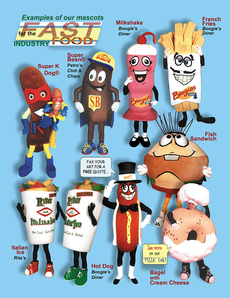 Facemakers Fast Food Mascot Costumes
