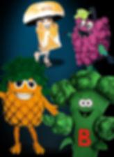 Facemakers Fruit & Veggie mascot costumes