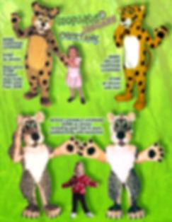 Facemakers Jaguar mascot costumes