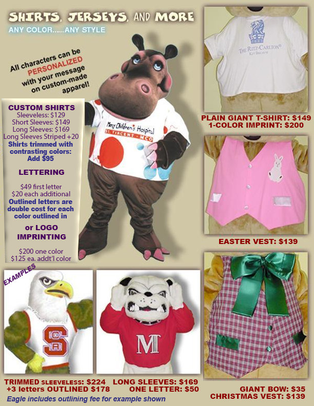 Facemakers Mascot Costume Clothing