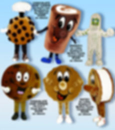 Facemakers Cookie Mascot Costumes