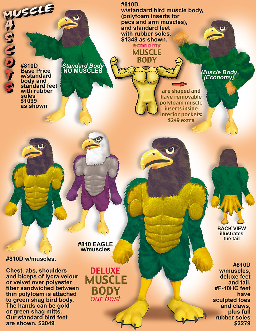 Facemakers Muscle Mascot Costumes