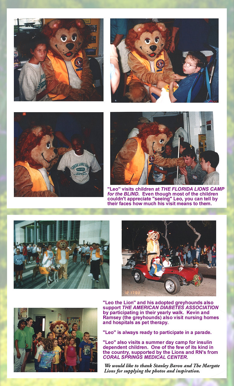 Facemakers Lions Club Mascot Costumes