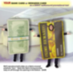 Facemakers Credit Card Mascot Costumes