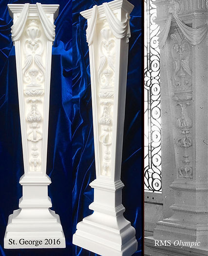 RMS Olympic Dining Room Pilaster and Modern Recreation.