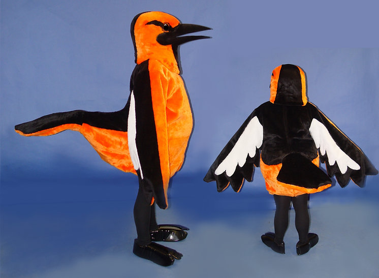 Facemakers Oriole Mascot Costumes