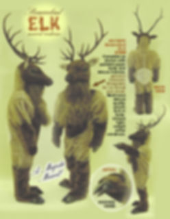 Facemakers Elk mascot costume