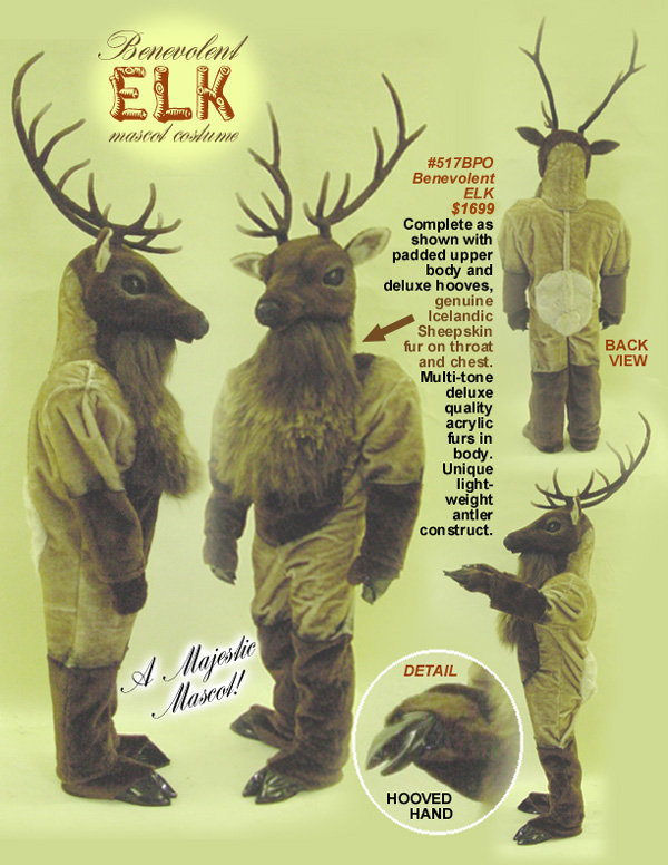 Facemakers Elk mascot costume