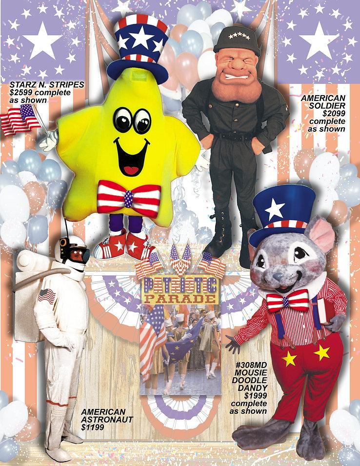 Facemakers Patriotic Parade Mascot Costumes
