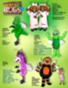 Facemakers Bug Mascot Costumes