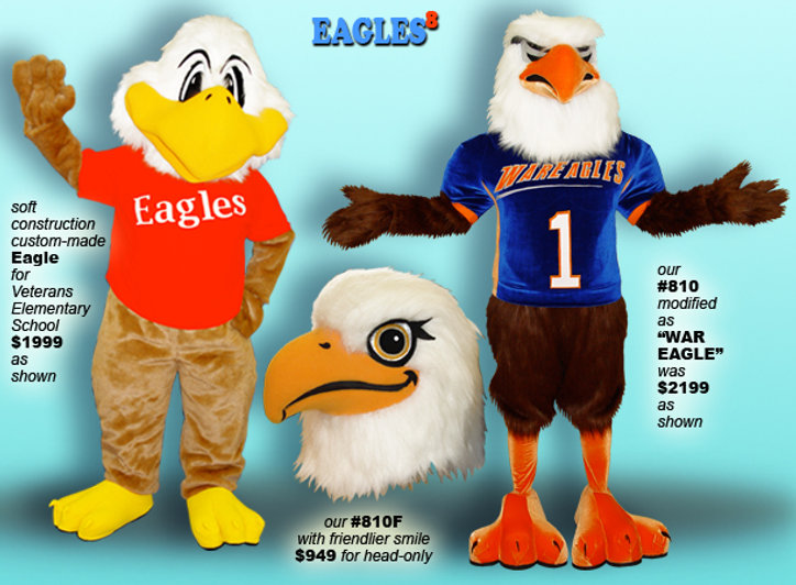 Facemakers war eagle mascot costumes
