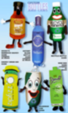 Facemakers Bottle Mascot Costumes