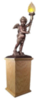Titanic Memorial Cremation Urn in Oak and bronze