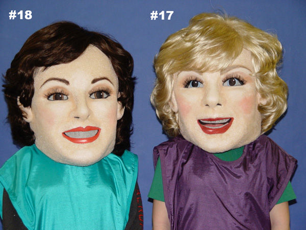 Facemakers female executive mascot heads