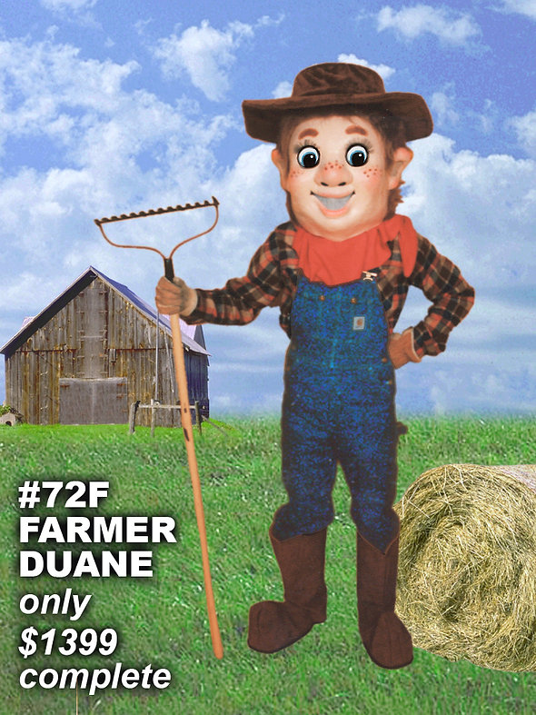Facemakers Farmer Mascot Costumes